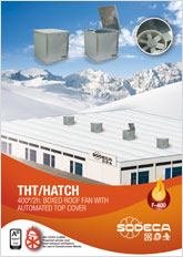 400º/2h. BOXED ROOF FAN WITH  AUTOMATED TOP COVER